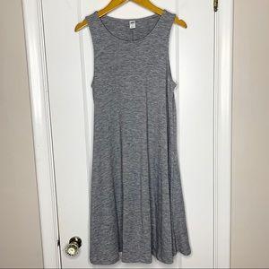 Old Navy grey sleeveless swing dress Small